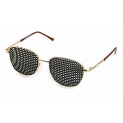 Metal pinhole glasses 420-EGP, quadratic pattern