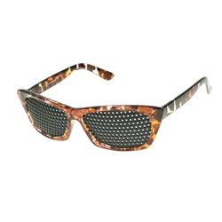 pinhole glasses 415-FMG, covered all over, brown marbled