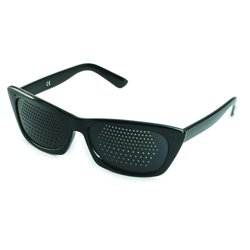 Pinhole glasses 415-FSB, bifocal pattern, black