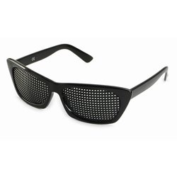 Pinhole glasses 415-FSP, quadratic pattern, black
