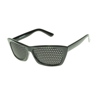 Pinhole glasses 415-FSG, covered all over, black