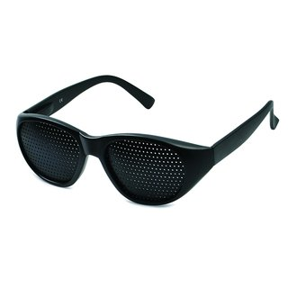 Pinhole glasses 415-JGF, fine pattern, black