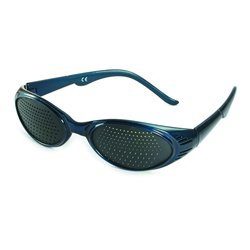 Pinhole glasses 415-KBB, bifocal pattern, blue