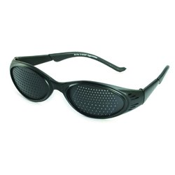 Pinhole glasses 415-KSB, bifocal pattern, black