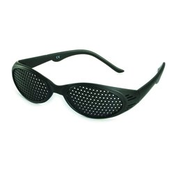 Pinhole glasses 415-KSG, covered all over, black