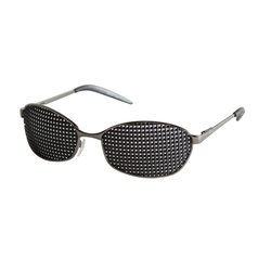 Metal pinhole glasses 420-LAP, quadratic pattern