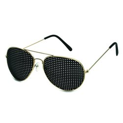 Metal pinhole glasses 420-PGP, quadratic pattern