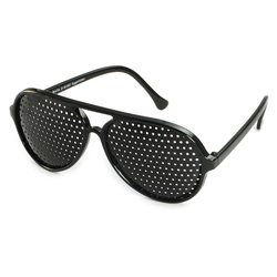 Pinhole glasses 415-PSG, covered all over, black