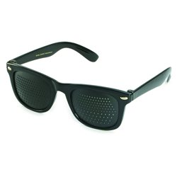 Pinhole glasses 415-SSB, bifocal pattern, black