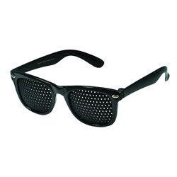 Pinhole glasses 415-SSG, covered all over, black