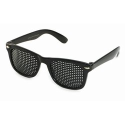 Pinhole glasses 415-SSP, quadratic pattern, black