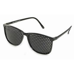 Pinhole glasses 415-YSG, covered all over, black
