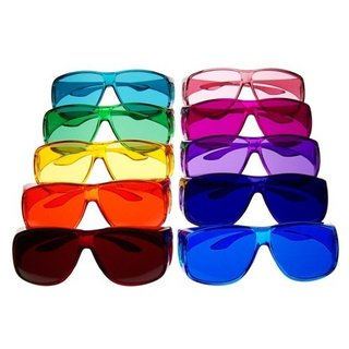 Color therapy glasses Large - Set of 10