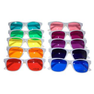 Color therapy glasses Classic-White - 10 diffrent colors available