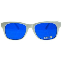 Color therapy glasses Classic-White - blue