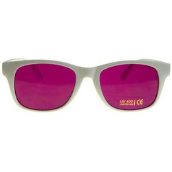 Color therapy glasses Classic-White - magenta
