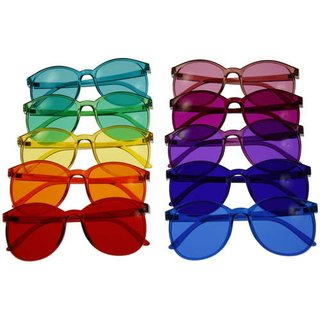Color therapy glasses Round  - 10 colors available