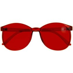 Color therapy glasses Round - red