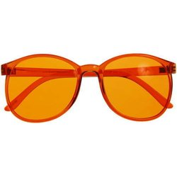 Color therapy glasses Round- orange
