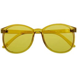 Color therapy glasses Round - yellow