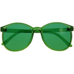 Color therapy glasses Round - green