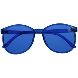 Color therapy glasses Round - blue