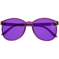 Color therapy glasses Round - violet