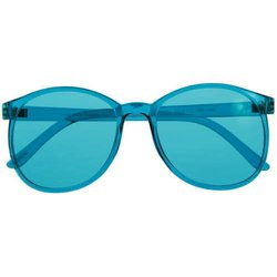 Color therapy glasses Round - turquise