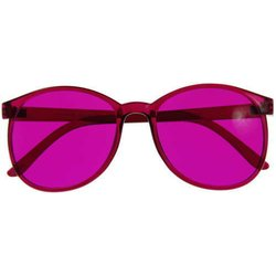 Color therapy glasses Round - magenta