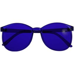 Color therapy glasses Round - indigo