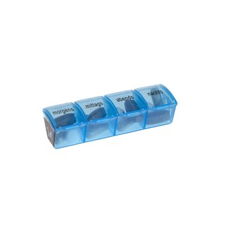 Monthly Pill Case - Toni - 31 Daily Pill Boxes with 4 Compartments - with tray for Daily Compartment