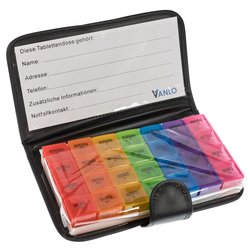 XXL Weekly Pill Box with 4 Compartments per day in...