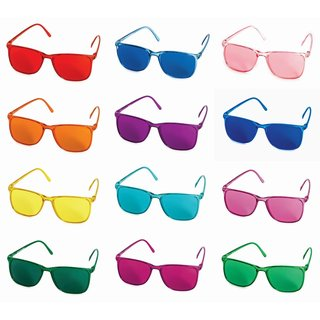 Color therapy glasses set Elegant with several glasses