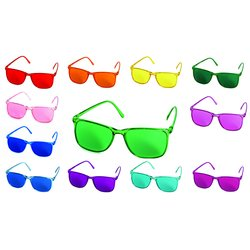 Color therapy glasses set Elegant - 12 glasses