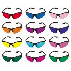 Color therapy glasses set Sport - 12 glasses