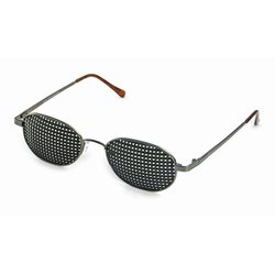 Metal pinhole glasses 420-GAP, quadratic pattern