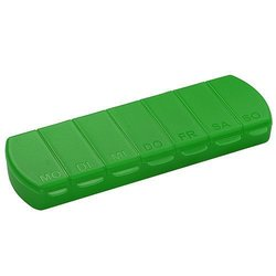 pill box Seven Days with 7 compartments - green