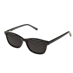 Acetate pinhole glasses 425-ASG, black, covered all over