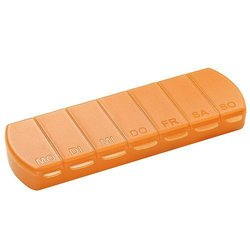 pill box Seven Days with 7 compartments - orange