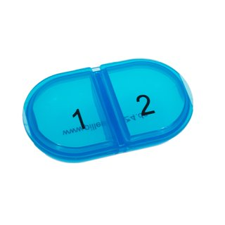 Daily Pill Box DUO with two compartments in blue